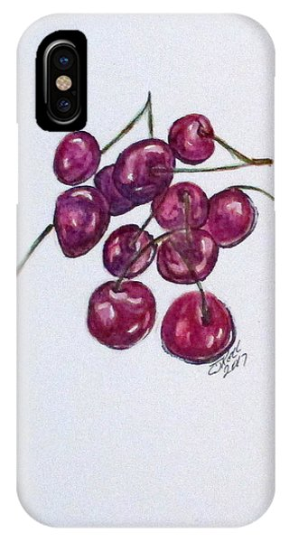 IPhone Case featuring the painting Sweet Cherry by Clyde J Kell