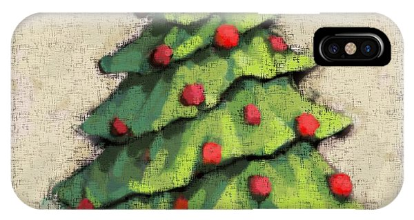 Christmas Tree iPhone Case - Sweet Christmas Tree by Carrie Joy Byrnes