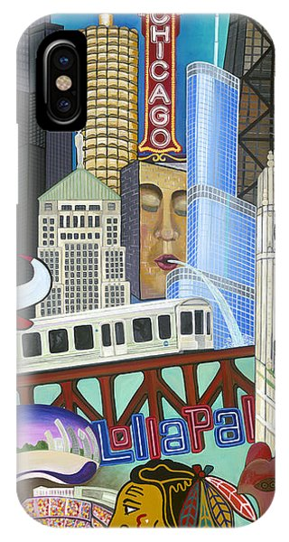 IPhone Case featuring the painting Sweet Home Chicago by Carla Bank