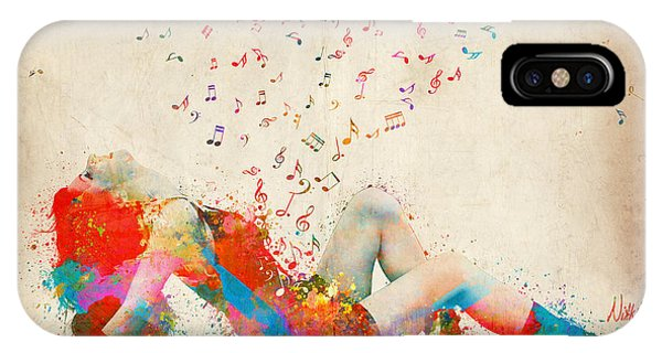 Musical iPhone Case - Sweet Jenny Bursting With Music by Nikki Smith