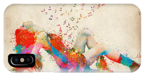 Sweet Jenny Bursting With Music IPhone Case