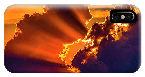 IPhone Case featuring the photograph Sweet Nebraska Crepuscular Rays 010 by NebraskaSC