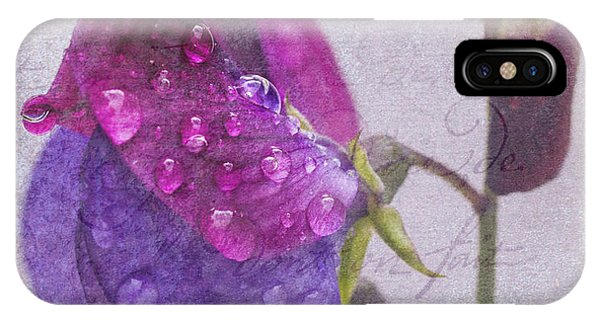 Sweet Pea Raindrops IPhone Case