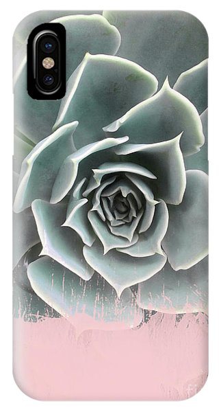 Sweet Pink Paint On Succulent IPhone Case