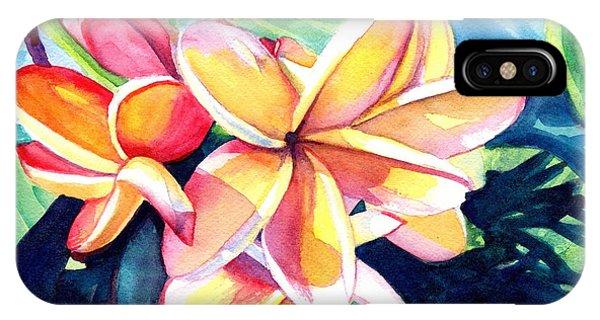Sweet Plumeria 2 IPhone Case