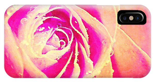 Close Up Floral iPhone Case - Sweet Romance - Rose  by Stacey Chiew