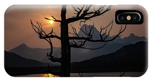 IPhone Case featuring the photograph Swiftcurrent Sunset by Lon Dittrick