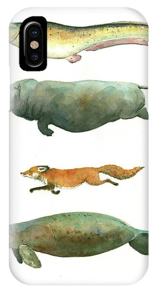 Catfish iPhone Case - Swimming Animals by Juan Bosco