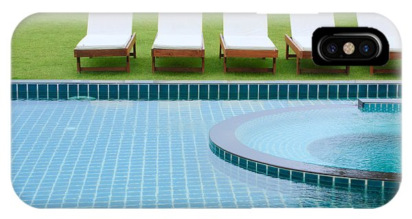 Swimming Pool And Chairs IPhone Case