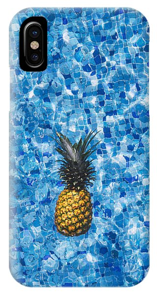 Pineapple iPhone Case - Swimming Pool Days by Happy Home Artistry