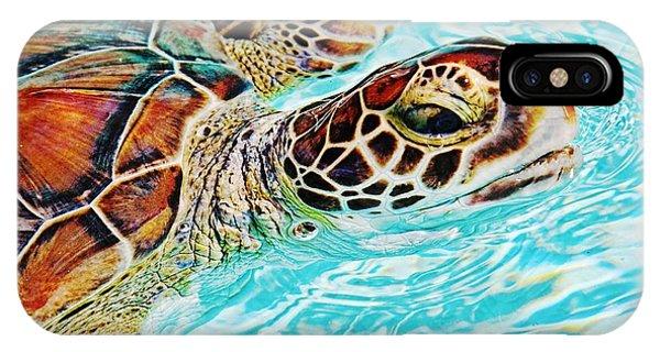 Swimming Turtle IPhone Case