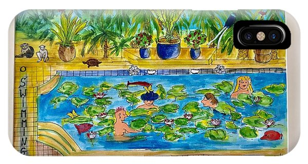 Swimming With Waterlilies And Fish IPhone Case