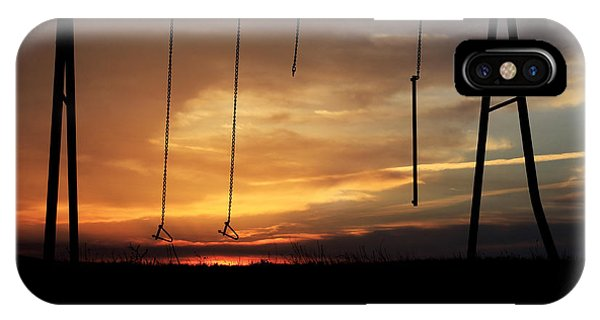 Swingset Sunset IPhone Case
