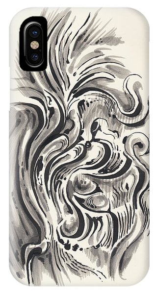 IPhone Case featuring the drawing Swirl by Keith A Link