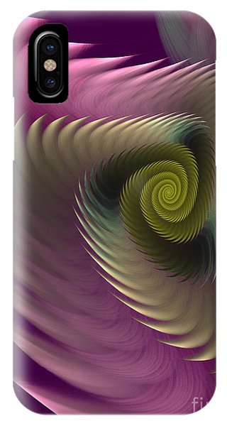 Fractals iPhone Case - Swirl Of Purple by Deborah Benoit