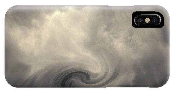 Swirl Wave Vi Toned IPhone Case