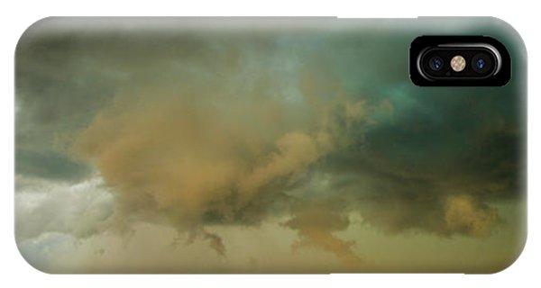 Nebraskasc iPhone Case - Swirling Nebraska Supercells 001 by NebraskaSC