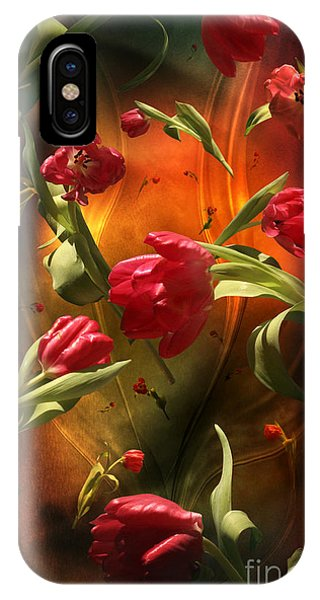 Swirling Tulips IPhone Case