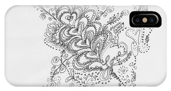 Assisted Living iPhone Case - Swirls by Carole Brecht