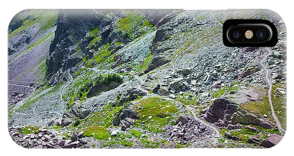 Switchbacks Below Comeau Pass IPhone Case