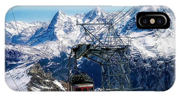 Switzerland Alps Schilthorn Bahn Cable Car  IPhone Case