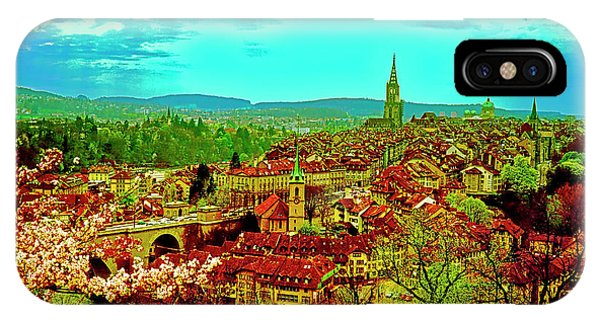 IPhone Case featuring the photograph Switzerland Bern City View Matte Aare River    by Tom Jelen