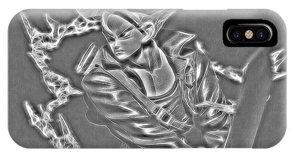 Saiyans iPhone Case - Sword Rush Trunks by Ray Shiu