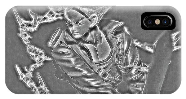 IPhone Case featuring the digital art Sword Rush Trunks by Ray Shiu
