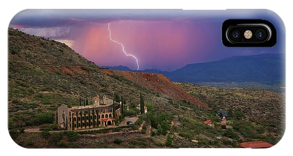 Sycamore Canyon Lightning With Little Daisy IPhone Case