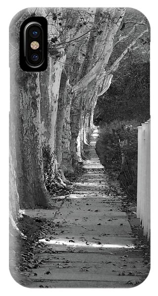 Sycamore Walk-grayscale Version IPhone Case