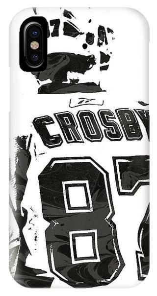 Puck iPhone Case - Sydney Crosby Pittsburgh Penguins Pixel Art 2 by Joe Hamilton