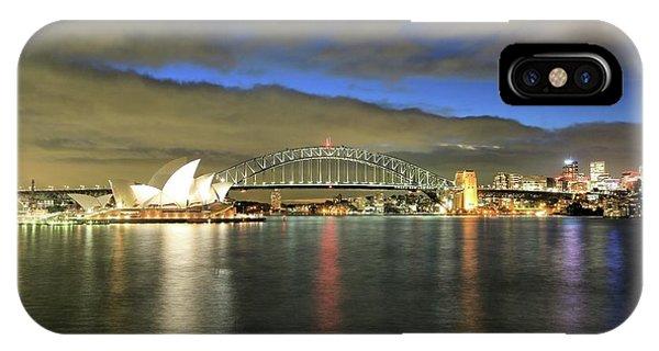 Sydney Harbor At Blue Hour IPhone Case