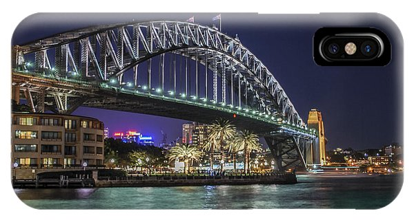 Sydney Harbor Bridge At Night IPhone Case