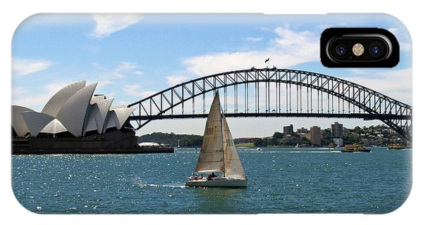 Sailboats iPhone Case - Sydney Harbour No. 1 by Sandy Taylor