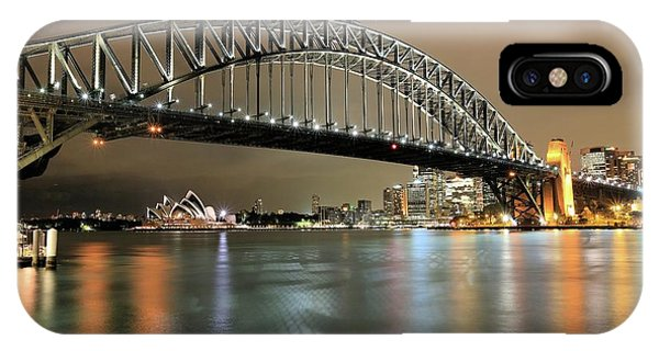 Sydney Harbour At Night IPhone Case