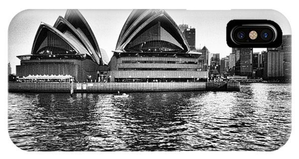 Sydney Opera House-black And White IPhone Case