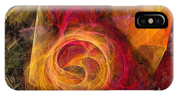 Luminous iPhone Case - Symbiosis Abstract Art by Karin Kuhlmann