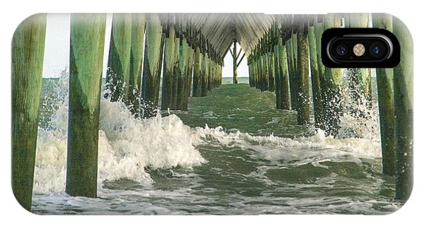 Oceanfront iPhone Case - Symbolic Surf City Pier by Betsy Knapp