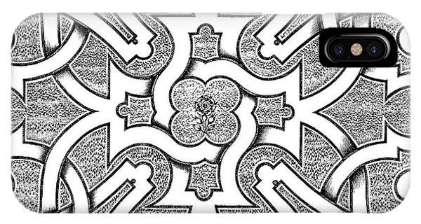 Repeat iPhone Case - Symmetrical Design For Parterre by Jacques Mollet