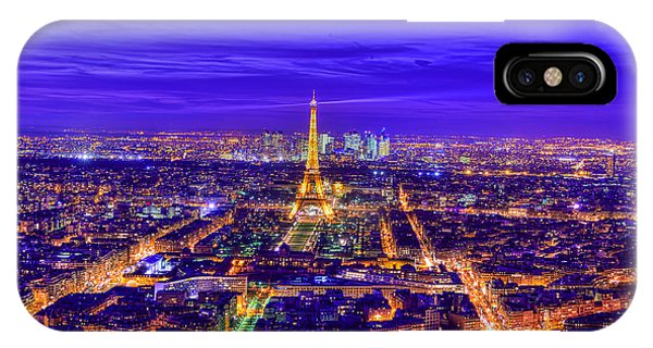 Paris iPhone Case - Symphony In Blue by Midori Chan