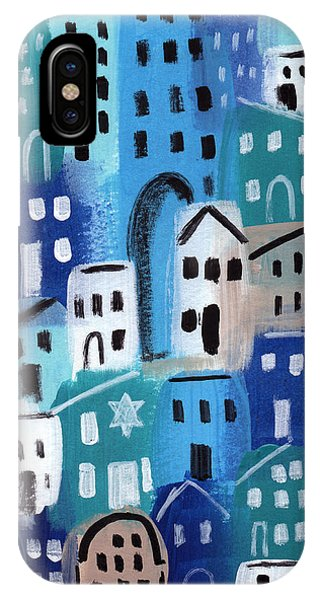 Neighborhood iPhone Case - Synagogue- City Stories by Linda Woods