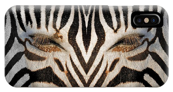 Synthetic Zebra IPhone Case