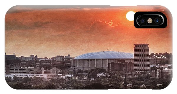 Dome iPhone Case - Syracuse Sunrise Over The Dome by Everet Regal