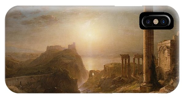 Columns iPhone Case - Syria By The Sea by Frederic Edwin Church