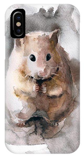 Hamster iPhone Case - Syrian Hamster by Nadezhda Appolat