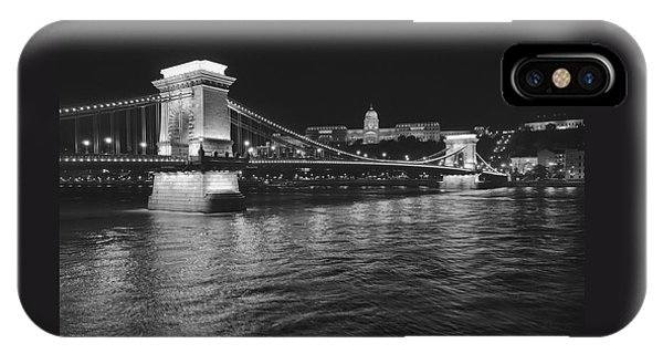 Szechenyi Chain Bridge Budapest IPhone Case
