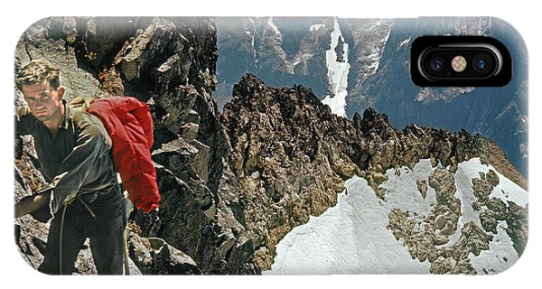 T-04403 Walt Buck Sellers On First Ascent Of Mt. Torment IPhone Case