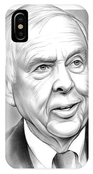 Business iPhone Case - T Boone Pickens by Greg Joens