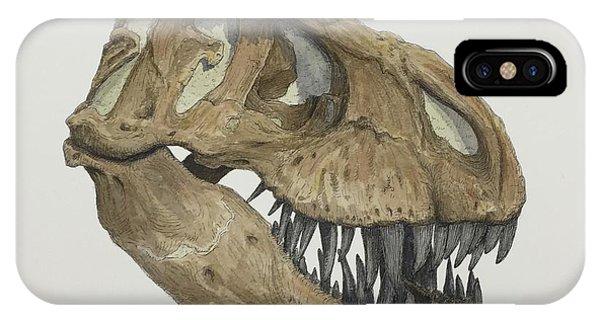 T. Rex Skull 2 IPhone Case