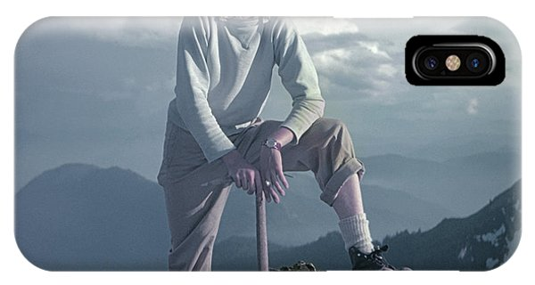 IPhone Case featuring the photograph T104800 Ed Cooper On First Climb Pinnacle Peak Wa 1953 by Ed Cooper Photography